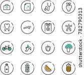 line vector icon set   doctor... | Shutterstock .eps vector #782790313