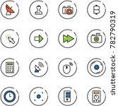 line vector icon set  ... | Shutterstock .eps vector #782790319