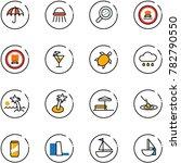 line vector icon set  ... | Shutterstock .eps vector #782790550