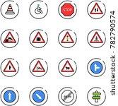 line vector icon set   road... | Shutterstock .eps vector #782790574