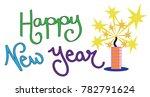 happy new year firework   Shutterstock . vector #782791624