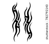 tattoo tribal vector design.... | Shutterstock .eps vector #782792140