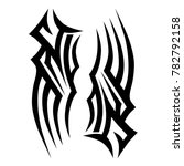 tattoo tribal vector design.... | Shutterstock .eps vector #782792158