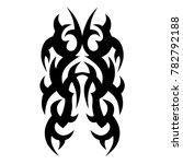 tattoo tribal vector design....   Shutterstock .eps vector #782792188