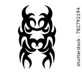 tattoo tribal vector design.... | Shutterstock .eps vector #782792194