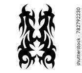 tattoo tribal vector design.... | Shutterstock .eps vector #782792230