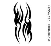 tattoo tribal vector design.... | Shutterstock .eps vector #782792254