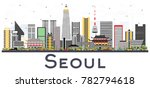 seoul korea city skyline with... | Shutterstock .eps vector #782794618