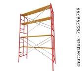 scaffolding metal construction... | Shutterstock . vector #782796799