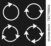 arrows recycling icon | Shutterstock .eps vector #782798806