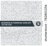 business and financial icon set ... | Shutterstock .eps vector #782801356