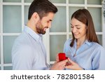 proposal man asking marry to... | Shutterstock . vector #782801584