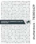 commerce and shopping icon set... | Shutterstock .eps vector #782801629