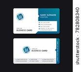 business card template design... | Shutterstock .eps vector #782808340