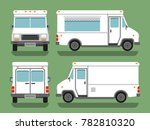 cartoon delivery white blank...   Shutterstock . vector #782810320