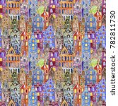 city seamless pattern can be... | Shutterstock . vector #782811730