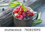 berries. raspberries ...   Shutterstock . vector #782815093