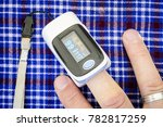 health examination by oximeter... | Shutterstock . vector #782817259