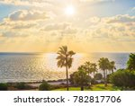 beautiful sunset on the sea... | Shutterstock . vector #782817706