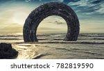 3d rendering. futuristic alien... | Shutterstock . vector #782819590