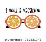 poster with orange eyeglasses... | Shutterstock .eps vector #782831743