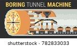 building of underground tunnels ... | Shutterstock .eps vector #782833033