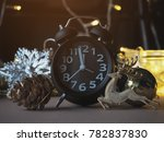 christmas decoration and alarm... | Shutterstock . vector #782837830