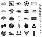 cycling clothes icons set.... | Shutterstock . vector #782838058