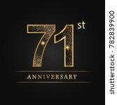 anniversary 71 years... | Shutterstock .eps vector #782839900