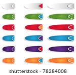 abstract web elements for web | Shutterstock .eps vector #78284008