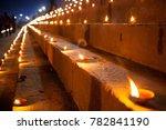 dev deepawali festival  earthen ... | Shutterstock . vector #782841190