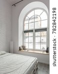 big window with arch and... | Shutterstock . vector #782842198