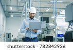 chief engineer in the hard hat... | Shutterstock . vector #782842936