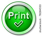 print icon | Shutterstock . vector #78284533