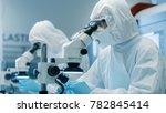 two engineers  scientists ... | Shutterstock . vector #782845414