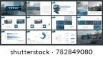 set of blue  black elements of ... | Shutterstock .eps vector #782849080