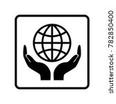 hand saves the world | Shutterstock .eps vector #782850400