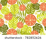 tropical bright pattern with... | Shutterstock .eps vector #782852626