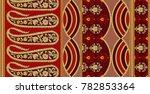 paisley indian motif | Shutterstock . vector #782853364