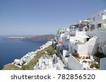 typical white houses in... | Shutterstock . vector #782856520