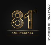 anniversary aniversary  eighty... | Shutterstock .eps vector #782859220