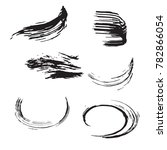 set of black brush strokes.... | Shutterstock .eps vector #782866054