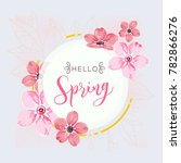 round banner with the hello... | Shutterstock .eps vector #782866276