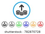 spend dash coins rounded icon.... | Shutterstock .eps vector #782870728