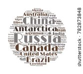 100 biggest countries word... | Shutterstock .eps vector #782873848