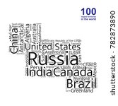 100 biggest countries word... | Shutterstock .eps vector #782873890