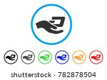 hand offer dash rounded icon.... | Shutterstock .eps vector #782878504