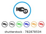 hand pay dash rounded icon.... | Shutterstock .eps vector #782878534