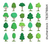trees illustrations. simple... | Shutterstock .eps vector #782878864