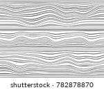 wavy black lines.warped lines... | Shutterstock . vector #782878870